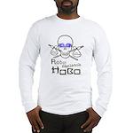 Robot Skeleton Hobo Long Sleeve T-Shirt