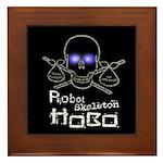 Robot Skeleton Hobo Framed Tile