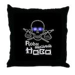 Robot Skeleton Hobo Throw Pillow