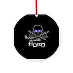Robot Skeleton Hobo Ornament (Round)