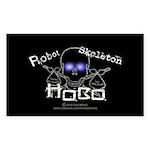 Robot Skeleton Hobo Sticker (Rectangle)