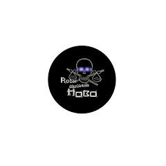 Robot Skeleton Hobo Mini Button (10 pack)