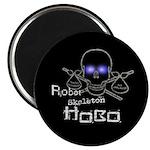 Robot Skeleton Hobo Magnet
