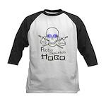 Robot Skeleton Hobo Kids Baseball Jersey