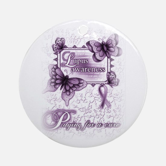 Lupus ~ Praying for a Cure Ornament (Round)