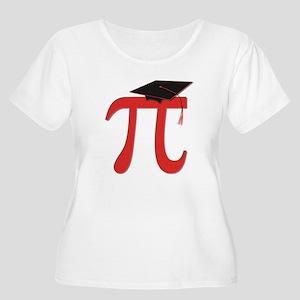 Red Pi Grad Women's Plus Size Scoop Neck T-Shirt
