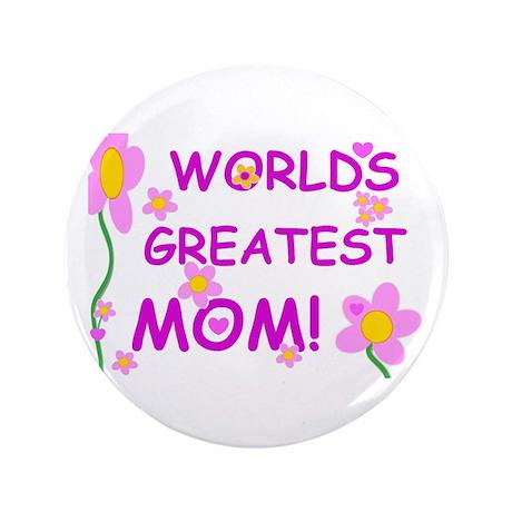 "World's Greatest Mom 3.5"" Button"