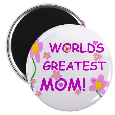 "World's Greatest Mom 2.25"" Magnet (100 pack)"