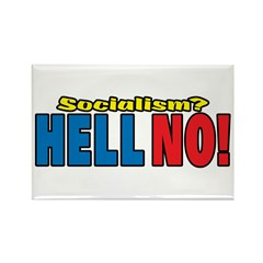 Socialism? HELL NO! Rectangle Magnet (100 pack)