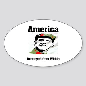 HEADING FOR DISASTER Sticker (Oval 10 pk)