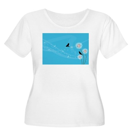 Raven Dreams Women's Plus Size Scoop Neck T-Shirt