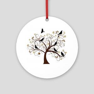 The Raven's Tree Ornament (Round)