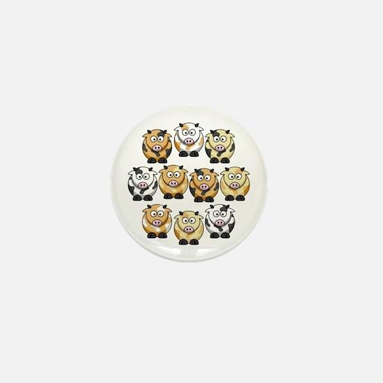 10 Cow Mini Button