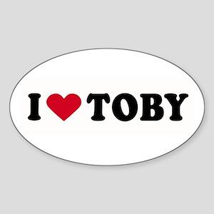I LOVE BOYS ~ Oval Sticker