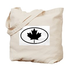 Black Maple Leaf Tote Bag
