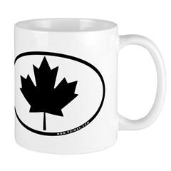 Black Maple Leaf Mug