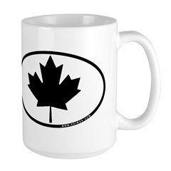 Black Maple Leaf Large Mug