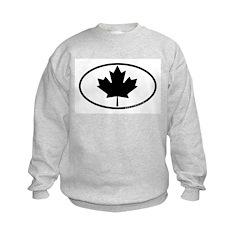Black Maple Leaf Kids Sweatshirt