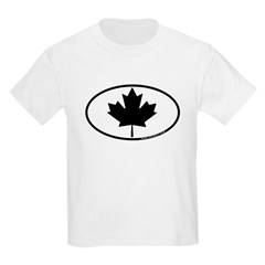 Black Maple Leaf Kids Light T-Shirt