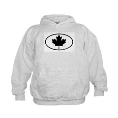 Black Maple Leaf Kids Hoodie