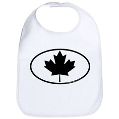 Black Maple Leaf Bib