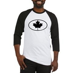 Black Maple Leaf Baseball Jersey