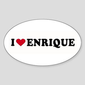 I LOVE ENRIQUE ~ Oval Sticker
