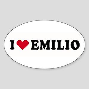 I LOVE EMILIO ~ Oval Sticker