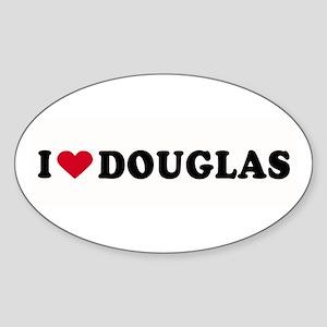 I LOVE DOUGLAS ~ Oval Sticker