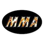 MMA Sticker (Oval 10 pk)