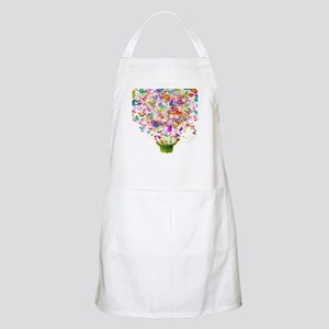 Butterflies and Flowers Forming Tree Light Apron