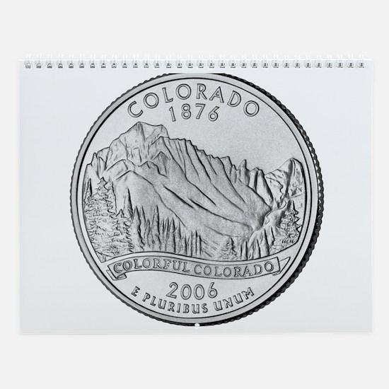 Colorado State Quarter Gear Wall Calendar