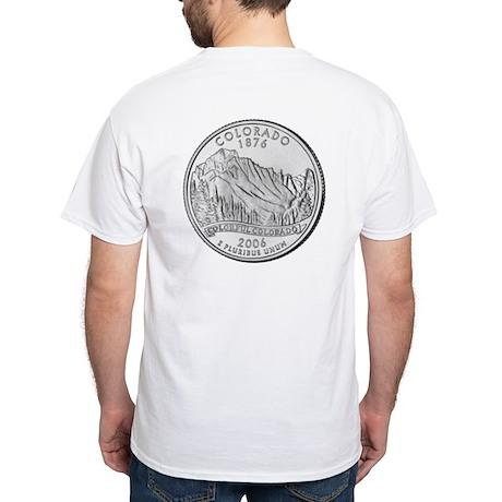 Colorado State Quarter Gear White T-Shirt