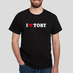 I Love TOBY - Black T-Shirt