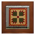 Bear Paw quilt square Framed Tile