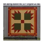 Bear Paw quilt square Tile Coaster