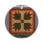 Bear Paw quilt square Ornament (Round)