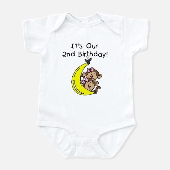 Twin Girls 2nd Birthday Infant Bodysuit