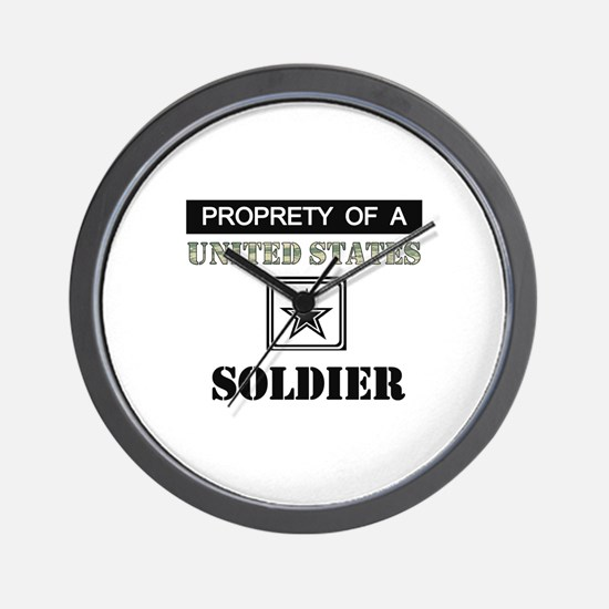 Property of a US Soldier Wall Clock