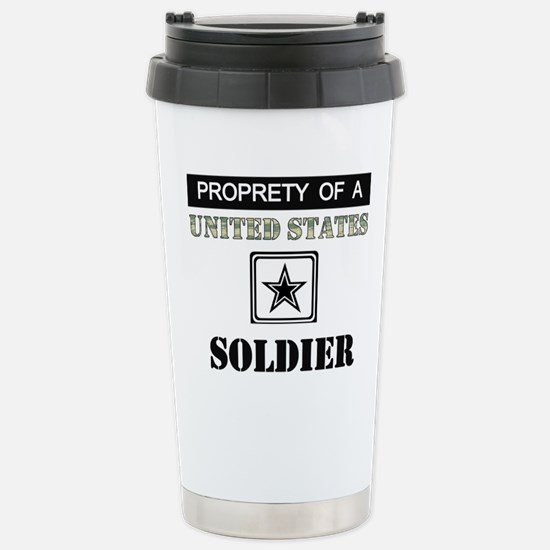 Property of a US Soldier Stainless Steel Travel Mu