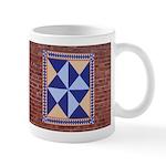Hour Glass quilt square Mug