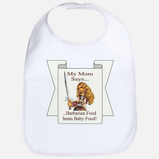 Barbarian Food beats Baby Food - bib