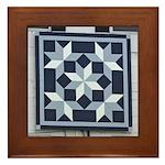 Snow Crystals quilt square Framed Tile