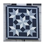 Snow Crystals quilt square Tile Coaster