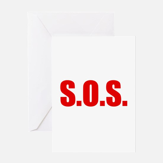 SOS Greeting Card