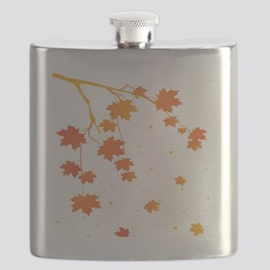 Maple Leaves on a Branch Flask
