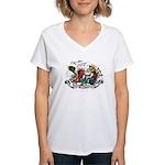 Unicorns Women's V-Neck T-Shirt