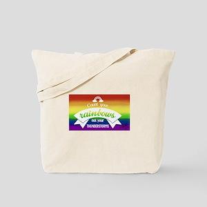 count your dreams gay rainbow art Tote Bag