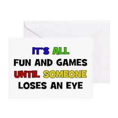 Fun & Games - Eye Greeting Card