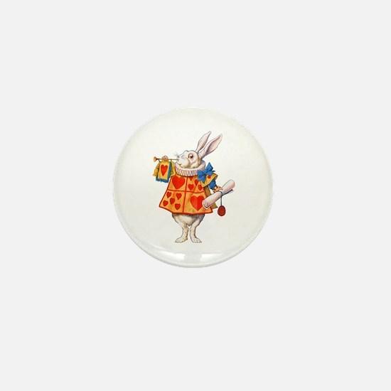 ALICE - THE WHITE RABBIT Mini Button